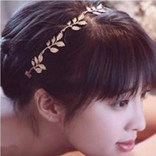 Grecian Style Hairbands Gold Olive Leaves Leaf Headdress Women Stretchy Hair Head Band Lady Girls Wreath Tiaras #Zer