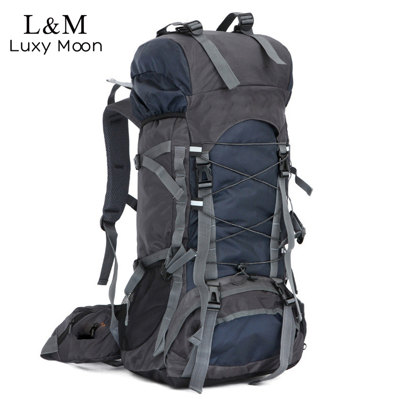 60L Large Professional Mountaineering Backpack Men Travel Backpacks Famous Brand Nylon Rucksack Luggage Bags mochila New XA745H<br>