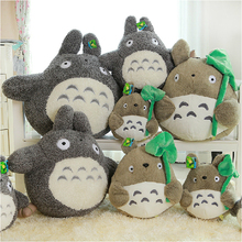 2015 20cmHayao Miyazaki Totoro plush doll lotus leaf, trumpeter mention dumplings Totoro doll,send girls kids birthday gift