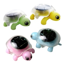 Mini Solar Powered Energy Cute Turtle Tortoise Gadget Gift Educational Toy For Kids - Color Random