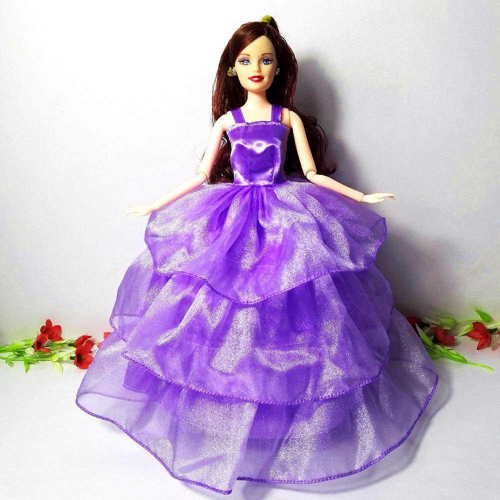 2016 Stunning 14 PCS/set Handmade Social gathering Garments Vogue Gown for Barbie Doll Blended type Gown
