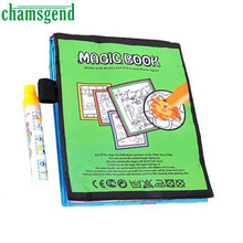 Chamsgend Hot Magic Water Drawing Book Coloring Book Doodle Magic Pen Animals Painting Levert Dropship Levert Dropship Aug 30