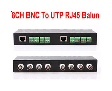 2014 Direct Selling Special Offer Freeshipping 8ch Passive Video Balun The Bnc To Utp Rj45 Cat5 Camera Dvr Transceiver(China)