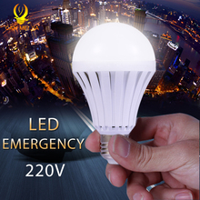 Canmeijia led lamp light LEDs LED bulb Bulbs e27 220V 5W 7W 9W 12W Emergency Rechargeable Battery Fixtures Bulb Lamps Decoration(China)