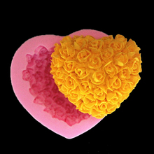 Heart Shape Ice Mold Silicone Mold Chocolate Biscuit Cake Decorating Sugarcraft Handmade Soap Candle Candy Fm050 Kitchen