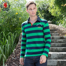 Fredd Marshall 2017 Men Polo Shirts Long Sleeve Striped Casual Brands Polo Shirt 100%Cotton Male Camisas Polos Plus Size 3XL 712