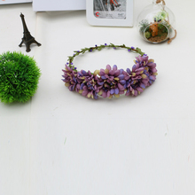 Female Bride Garland Headdress Head Hair Huansen Wreath On vacation flapper headband flowers