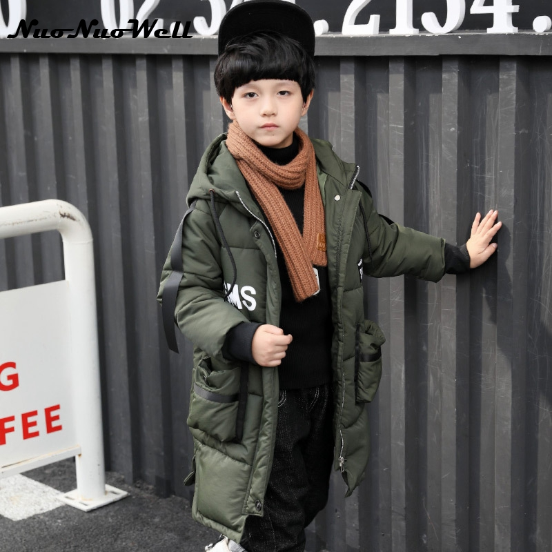 NNW 2017 Winter Boys Winter Coats Warm Casual Parka Children Hooded Outerwear Teenager Boys Winter Jacket Cotton Coats  3-15 Y <br>