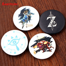 SamYeung 2017 News Zelda Buttons for Best Friends Zelda Badges School Bag Coat Badge Brooch Friendship Brosch Anime Jewelry(China)