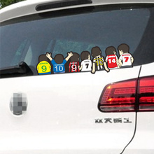 Car Stickers Famous Football Players Soccer Ronaldo Baggio Raul Henry Beckham Del Piero Cartoon Creative Decals Auto Tuning D20(China)