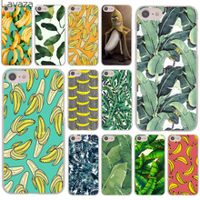 banana leaf pattern Tropical Leaves Fruit Hard Transparent Case Cover for iPhone 7 7 Plus 6 6S Plus 5 5S SE 5C 4 4S