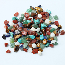 2016 New Product 1 Bag 100g Colorful Mixed Irregular Shape Tumbled Stones Rock Gem Beads Chips S239