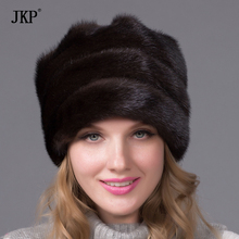 Former real mink hat flower 2017 new arrival good quality colorful women luxurious fur cap female winter fur hat full DHY-47