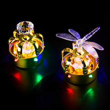 Nightclub New Ice Bucket Whiskey Stones Led Sparkling Champagne Head Plastic/Metal Cap LED Light Crown Bottle Caps(China)