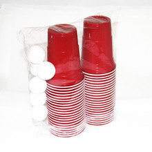 Free of shipping beer pong party pack accessories kit disposable plastic red cup game set 44cups with 8 balls