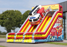 (China Guangzhou) manufacturers selling inflatable slides,Fire truck slide KY-692(China)