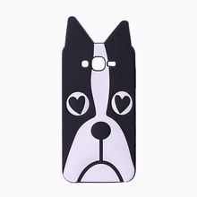 2017 Luxury classic 3D cartoon animals design love dog/zebra/owl/cat soft silicone case cover skin For Samsung galaxy cell phone(China)