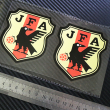 6zstickers JFA JAPAN SOCCER X2 PACK bonus RED moto cars Reflective stickers decals waterproof sunscreen(China)