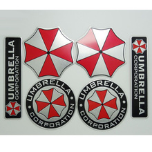 Cool 3D Resident Evil Umbrella Aluminum Emblem Badge Car Trunk Metal Sticker Decals For kia skoda octavia mazda opel M bmw vw(China)