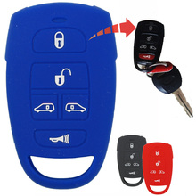 For Kia Carnival Sedona Royale For Hyundai Entourage 5 Buttons Flip Entry Remote Car Key Case Cover Fob Black Red Blue