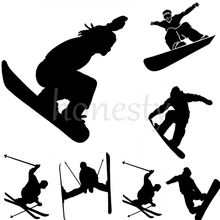 Skier Skiing Jump Snowboarding Snowboarder Car Window Bumper Laptop Wall Sticker