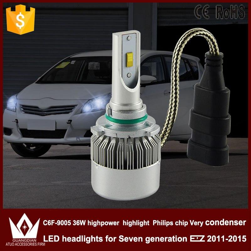 Guang Dian car led light 9005 Headlight Head lamp high beam C6F 6000K white 9005 HB3 for TO-Y-O-T-A for EZ 2011-2015<br><br>Aliexpress