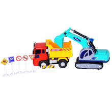 toys for children car model set excavator tip lorry car tipper skip car toy set engineering vehicle   model car truck toy set
