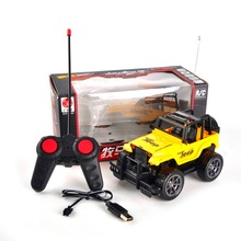 High Quality Children Kids 1:24 portable radio control RC Jeep tpys 4CH Remote Control speed Drift SUV Off-road vehicle for gift(China)