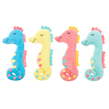 1PC 17.7''45cm Cute Sea Horse Plush Toy Stuffed Sleeping Pillow Creative Gift Boyfriend's Gift