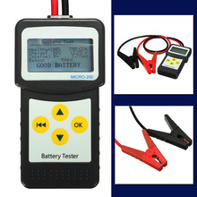 12V Digital Car Battery Tester Auto Vehicle Battery Analyzer for AGM GEL MICRO-200 Car Repair Diagnostic Tools(China)