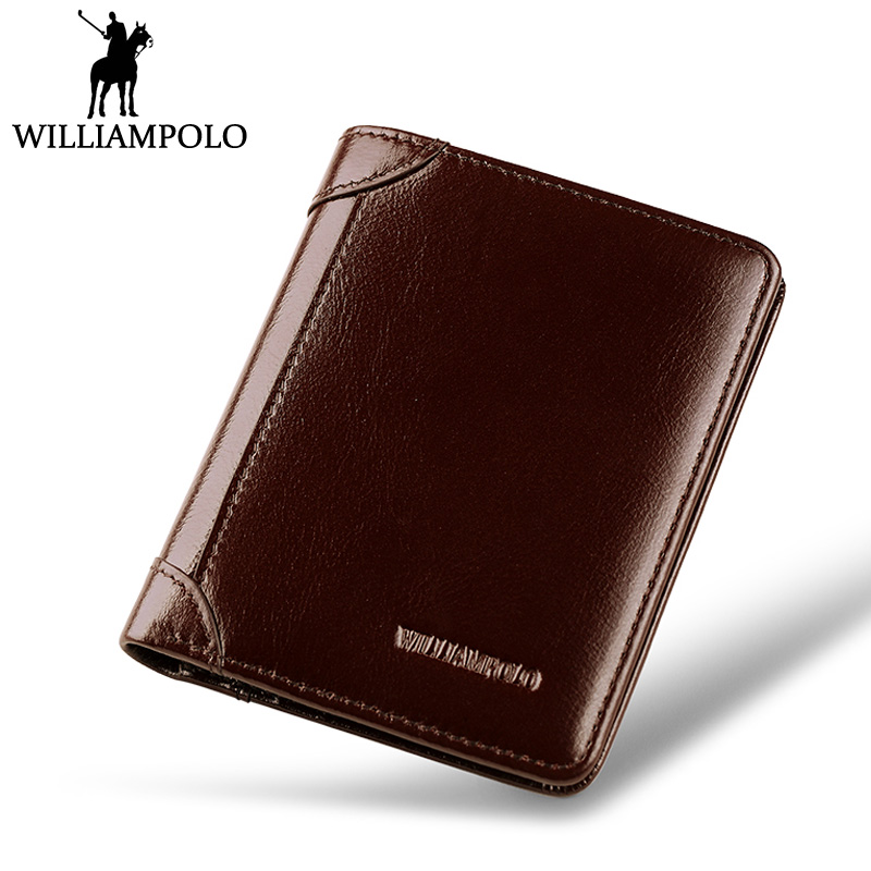 WILLIAMPOLO Mini Wallet Small Size Fashion Unisex Genuine Leather Wallet Men Women Birthday Gift Minimalism Card Holder Purse<br>