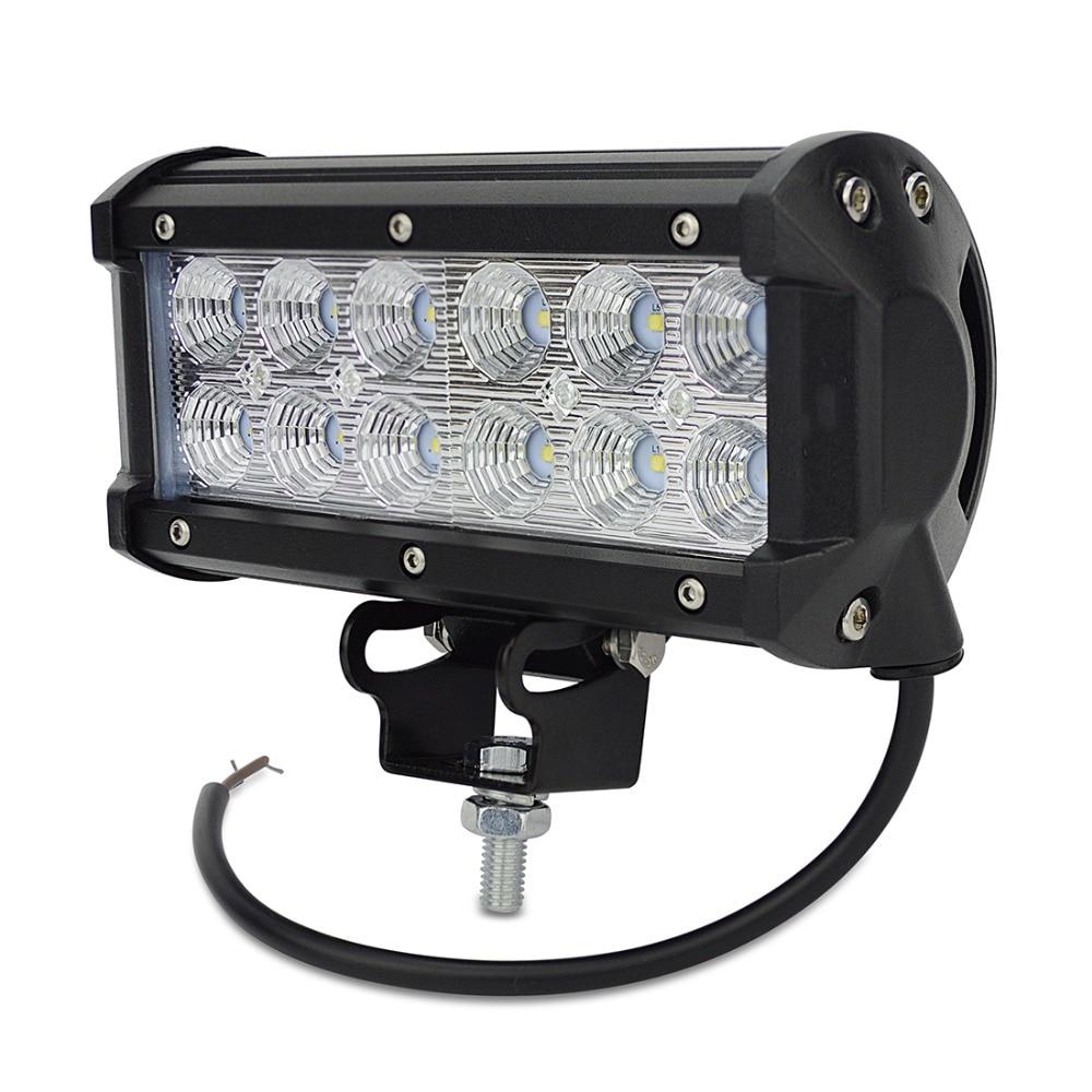 1pcs truck tractor trailer UTV bus off-road 7.5 inch Spot beam led light 36W led work light bar led working driving lights bar <br>