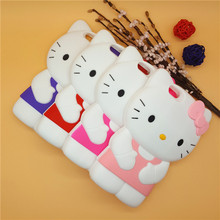 New Cute 3D Cartoon Bowknot Hello Kitty Case Soft Silicon Back Cover for Apple iPhone 4 4S & SE 5 5S 5C & 6 6S & 6 6S Plus