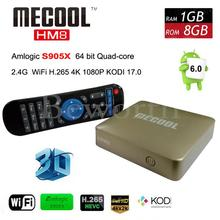 Amlogic S905X Android 6.0 Smart TV Box Quad Core MECOOL HM8 Mini PC KODI 17.0 Wifi 4K Media Player 3D Home Movie Set Top Box(China)