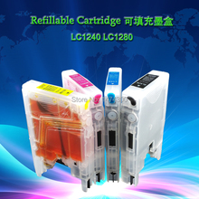 Full ink Refillable cartridges set work for all brother printers which use LC71 LC73 LC75 LC1240 LC1280 Cartridges(China)