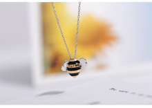 Daisies 925 Sterling Silver Cute Bee Necklaces & Pendants Sterling Silver Choker Necklace Jewelry Collar Colar de Plata