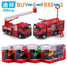 1:55 Alloy Firetruck/Deluxe Fire Truck/Garbage truck/Concrete car/Dump truck/engineering truck Metal Toys Car gift for Kids