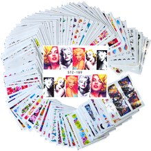 100pcs Nail Art Sticker Sets Mixed Full Cover Girl/Flower/Cartoon Decals for Polish Gem Nail Foils TRSTZ134-233
