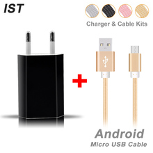 Buy 2017 IST Charger Cable Kits Micro USB Cable Samsung Galaxy S5 S6 S7 Note 3 Android Cable Wall Charger EU Mobile Phone Cable for $3.93 in AliExpress store