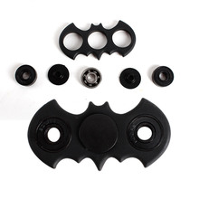6 Colors Bat Shape Spinner Fidget Toy Plastic EDC Batman Shaped Hand Spinner for Autism and ADHD Rotation Time Long Anti Stress