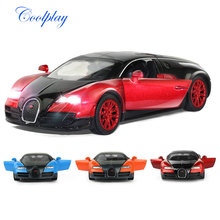 1:32 Bugatti Veyron Racing Alloy Car Model Pull Back Acousto-optic Vehicles Matel Car Model with Light & Music Children Toy Gift(China)