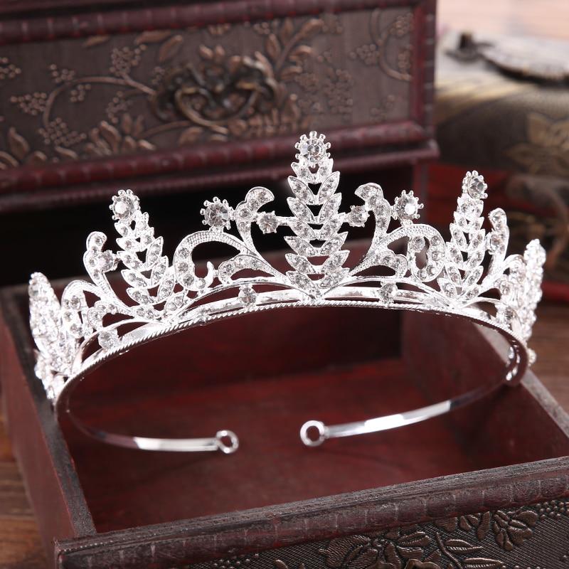 Diverse Silver Crystal Bride tiara Crown Fashion Pearl Queen Wedding Crown Headpiece Wedding Hair Jewelry Accessories Wholesale 12