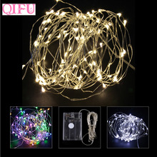 QIFU 2m 5m LED Copper Wire String Light Merry Christmas Decoration For Home Battery Powered Waterproof Lamp Wedding Party Decor(China)