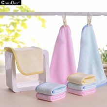 Hot sale bamboo fiber pure color mini towel 3pcs\bag very soft saliva towels for baby elderly strong water absorption