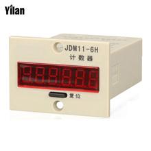 JDM11-6H, 16 kinds of voltage specifications,4 Terminals 6 Digits LED Display Electronic Voltage Input 0-99999 Counter