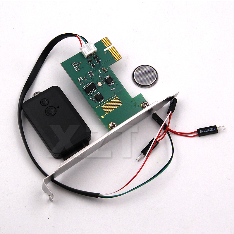 PCI-E Card PC Desktop Remote Controller 20m Wireless Restart Switch Turn On Off