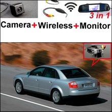 For Audi A4 B5 8D 1994~2001 3 in1 Special Rear View Camera + Wireless Receiver + Mirror Monitor Easy DIY Back Up Parking System