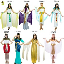Sexy Egyptian Pharaoh Costumes Halloween Party Adults Clothing Egyptian Pharaoh Queen Fancy Dress Costume For Cleopatra Girls