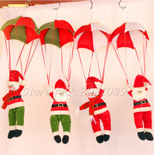 1PC New Christmas Charm Decorations For Home Parachute Santa Claus Snowman Ornaments Festival Gift Xmas Supplies Wholesale