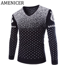 New Arrival Man Fashion Sweater Brand Red Wine Slim Fit Casual Clothing Man Knitting Pullover And Sweaters Pull Homme Marque